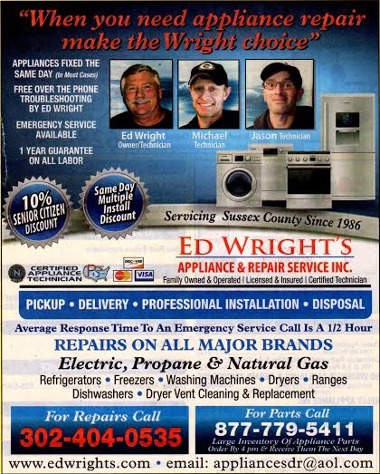Appliance Repair And Service Company In Lewes De